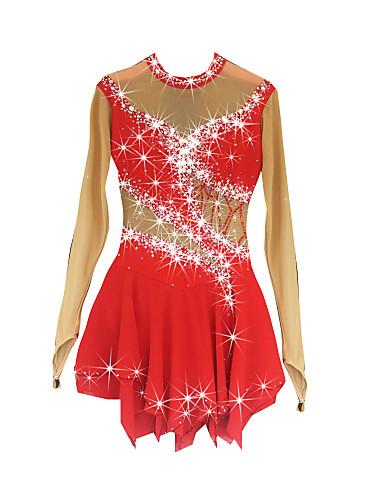 robe de patinage artistique femme fille patinage robes rouge spandex haute lasticit. Black Bedroom Furniture Sets. Home Design Ideas