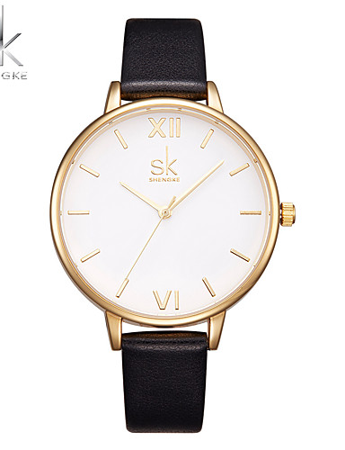 SK Women's Wrist Watch Chinese Shock Resistant / Large Dial PU Band Luxury / Casual / Fashion Black / Two Years / Sony SR626SW