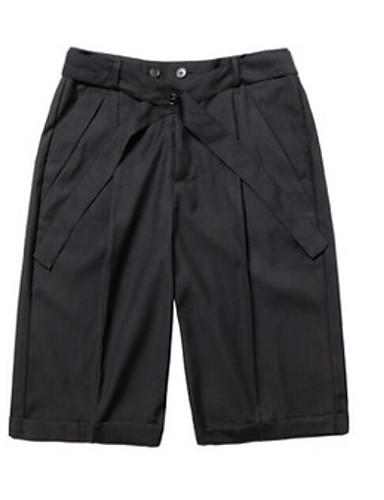 Herre Bomull Rett Shorts Bukser Ensfarget