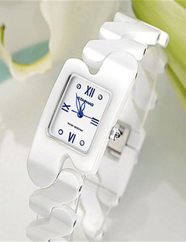 Women's Fashion Watch Quartz Ceramic Band White