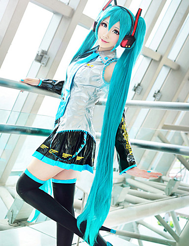 Cosplay Wigs Vocaloid Hatsune Miku Anime   Video Games Cosplay Wigs 48 inch  Heat Resistant Fiber Women s Halloween Wigs 8cd2b15195