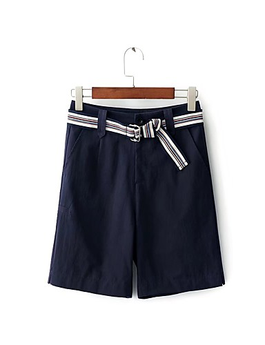 Women's Mid Rise strenchy Chinos Shorts Pants,Street chic Relaxed Pure Color Tassel Solid