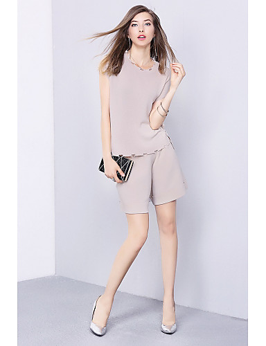 Women's Going out Daily Casual Summer Tank Top Pant Suits