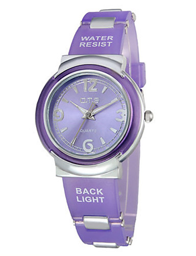 Women's Fashion Watch Quartz Water Resistant / Water Proof Rubber Band Blue Purple