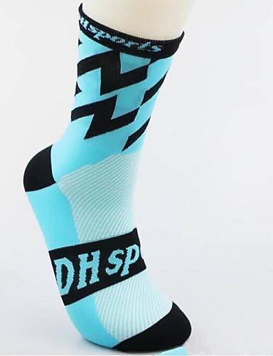 cheap Cycling Clothing-Compression Socks Sport Socks / Athletic Socks Cycling Socks Men's Women's Cycling / Bike Running Bike / Cycling Lightweight Anatomic Design Breathability 1 Pair Nylon Spandex Blushing Pink LightBlue