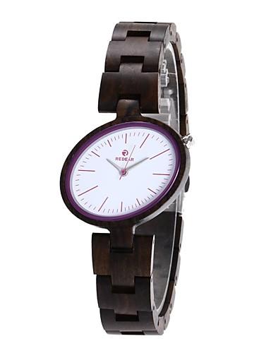 Damen Uhr Holz Japanisch Quartz hölzern Holz Band Charme Luxus Elegant Schwarz