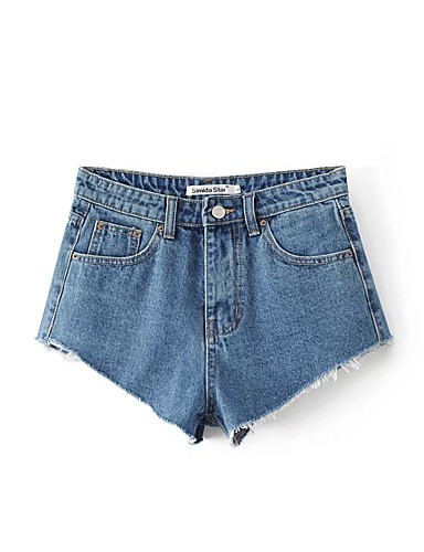 Damen Street Schick Hohe Hüfthöhe Mikro-elastisch Lose Jeans Kurze Hosen Hose,Baumwolle Leinen Winter Frühling Sommer Herbst Solide