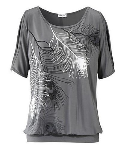 Damen T-shirt Druck Baumwolle