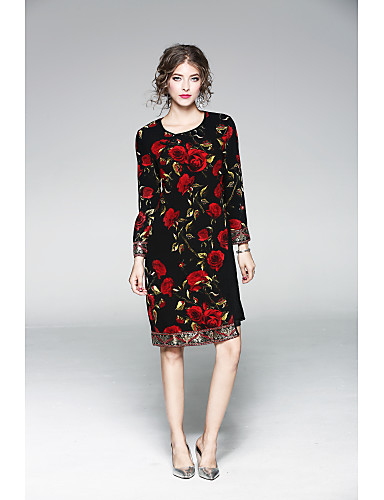 52eb3ae0b Women s Floral Daily Classic   Timeless Loose Sheath Dress - Solid ...
