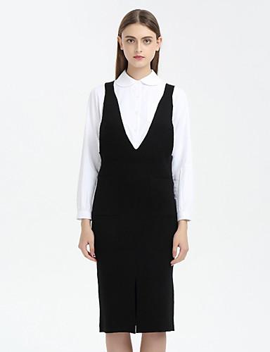Damen Standard Weste-Lässig/Alltäglich Solide Gestreift V-Ausschnitt Ärmellos Polyester Frühling Dünn Mikro-elastisch