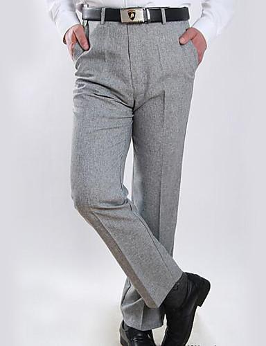 Férfi Egyszerű Bő / Pamutszövet nadrág Nadrág Egyszínű