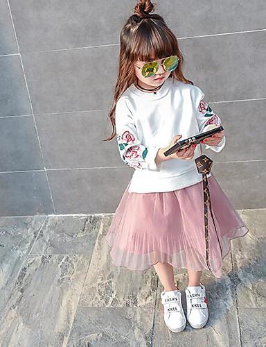 Mädchen Sets Einfarbig Andere Sommer Kurzarm Kleidungs Set