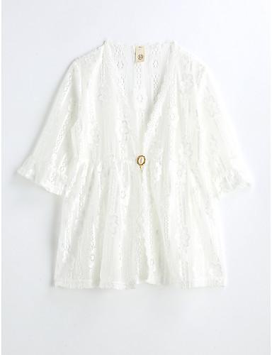 Mädchen Kleid einfarbig Baumwolle Sommer ½ Ärmel
