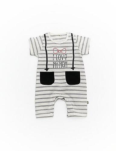 Baby Einzelteil Streifen Baumwolle Sommer Grau Gelb