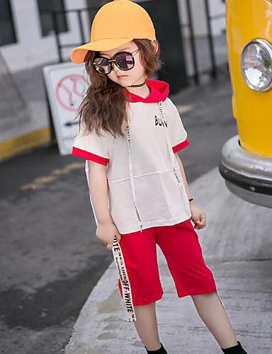 Mädchen Sets Andere einfarbig Baumwolle Frühling Sommer Kleidungs Set