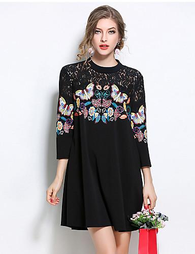 da1ac65bbfa5 Γυναικεία Μεγάλα Μεγέθη Εξόδου Κομψό στυλ street Φαρδιά Φόρεμα - Patchwork