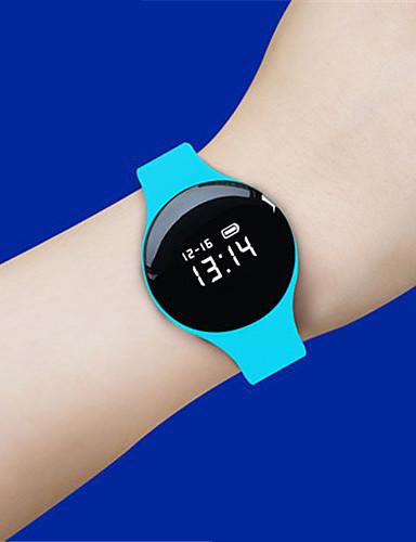 Herrn Smart Watch digital Nachts leuchtend Caucho Band Schwarz Blau Rot Orange Grün