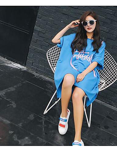 Damen Pullover Sport Ausgehen Lässig/Alltäglich Einfach Aktiv Boho Solide Rundhalsausschnitt Fleece-Futter Mikro-elastisch Baumwolle