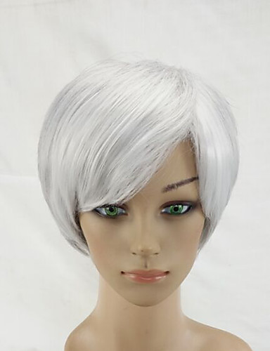 ราคาถูก Beauty & Hair-วิกผมสังเคราะห์ Straight สไตล์ ไม่มีฝาครอบ ผมปลอม สีชมพู Gray สังเคราะห์ สีชมพู / Gray วิก Short hairjoy วิกธรรมชาติ
