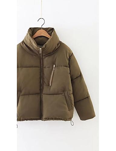 Damen Gefüttert Mantel,Standard Einfach Niedlich Street Schick Ausgehen Lässig/Alltäglich Solide-Andere Polyester Langarm