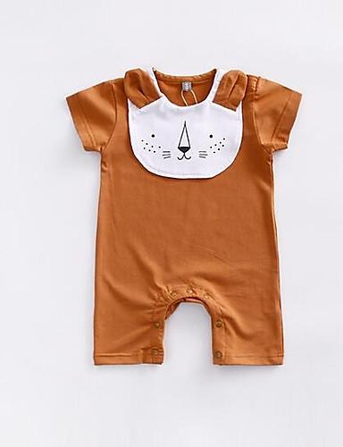Baby Einzelteil Tier Baumwolle Sommer Braun Orange Rosa