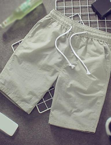 Herren Einfach Mittlere Hüfthöhe Mikro-elastisch Kurze Hosen Schlank Hose Solide