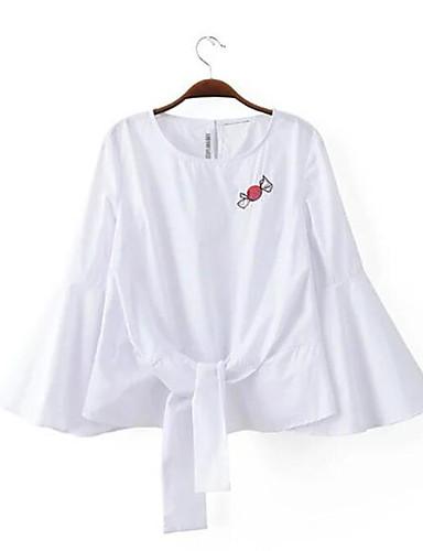 Damen Gestreift Hemd Baumwolle