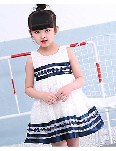 Mädchen Kleid einfarbig Polyester Sommer