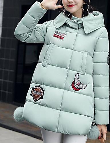 Damen Gefüttert Mantel,Lang Einfach Niedlich Street Schick Ausgehen Lässig/Alltäglich Solide Druck-Andere Polypropylen Ärmellos