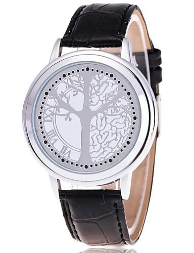 Damen Armbanduhr Modeuhr Quartz Leder Band Freizeit Schwarz
