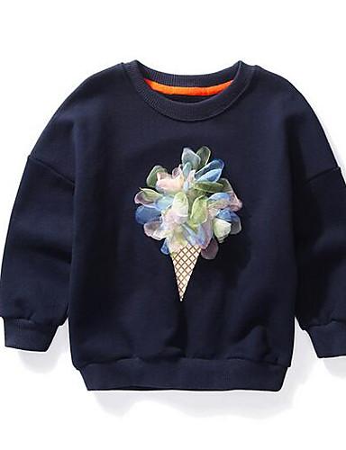 فتيات بلوزة زهور قطن خريف كم طويل أزرق وردي بلاشيهغ البيج