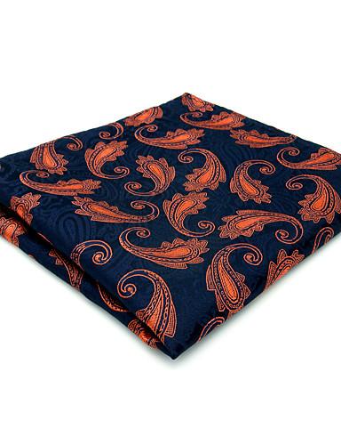 Men's Vintage / Party / Work Rayon Pocket Squares - Color Block / Paisley / Jacquard / Cute / Fabric / All Seasons
