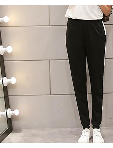 Damen Einfach Mittlere Hüfthöhe Mikro-elastisch Jogginghose Schlank Hose Einfarbig