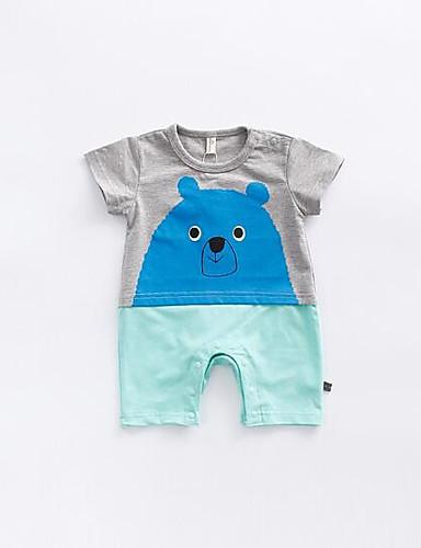 Baby Einzelteil Tier Baumwolle Sommer Blau Orange
