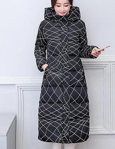 Damen Gefüttert Mantel,Lang Einfach Niedlich Street Schick Ausgehen Lässig/Alltäglich Solide Druck camuflaje-Andere Polypropylen Ärmellos