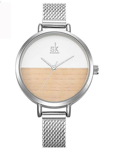 Damen Modeuhr Einzigartige kreative Uhr Armbanduhren für den Alltag Chinesisch Quartz Wasserdicht Legierung Band Charme Luxus Kreativ