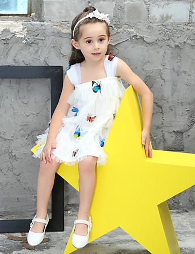 Mädchen Kleid Druck Baumwolle Sommer Ärmellos