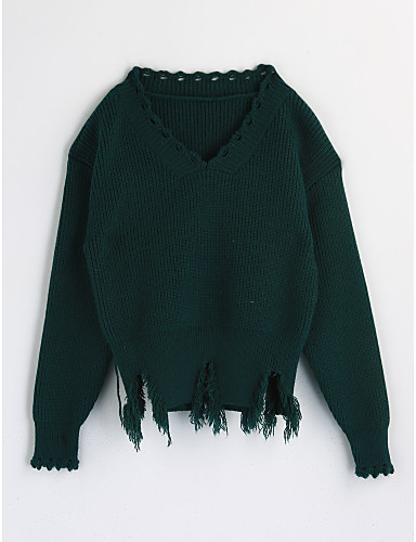 Girls' Solid Colored Long Sleeve Cotton Blouse Green 2-3 Years(100cm)