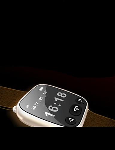 Herrn Smart Uhr Mechanischer Handaufzug Caucho Band Schwarz Braun