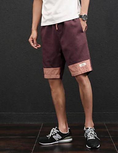 Herren Einfach Mittlere Hüfthöhe Mikro-elastisch Schlank Chinos Kurze Hosen Schlank Chinos Kurze Hosen Hose Einfarbig
