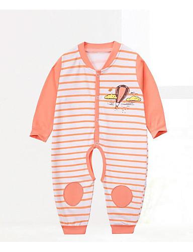Baby Einzelteil Streifen Baumwolle Frühling Blau Orange