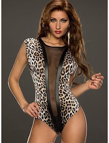 billige Sexy Kropper-Dame Sexy Ultrasexy / Dress Nattøy - Leopard