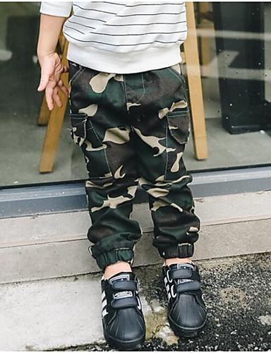 Jungen Hose camuflaje Baumwolle Polyester Frühling Herbst Armeegrün