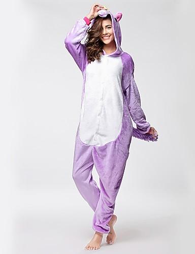 b4f37de856a3 Adults  Kigurumi Pajamas Unicorn Flying Horse Horse Pony Onesie Pajamas  Flannel Fabric Light Purple Cosplay For Men and Women Animal Sleepwear  Cartoon ...