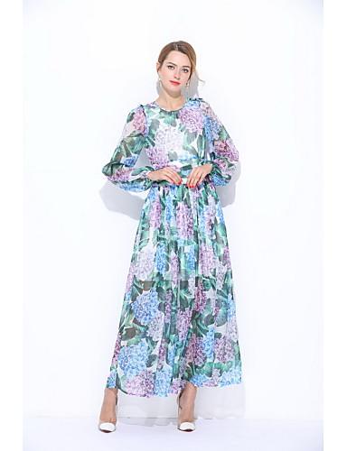 Damen Lose Hülle Kleid Blumen Maxi