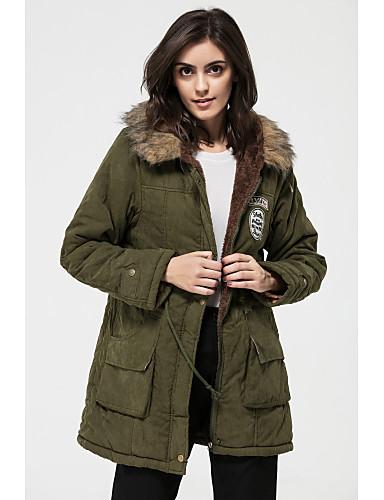 Women's Plus Size Long Parka - Solid Hooded