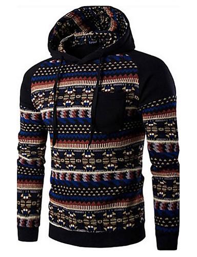 Men's Sports Street chic Long Sleeve Hoodie Print Hooded Dark Gray L