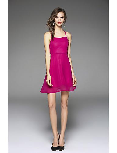 Dámské Pouzdro Šaty - Jednobarevné Ramínka High Rise