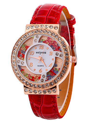 Women's Wrist Watch Cool Leather Band Casual / Fashion Black / White / Red / One Year / SSUO LR626