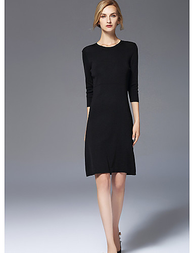 FRMZ Women's Plus Size Cute Chic & Modern Slim Sheath Dress - Solid Colored, Modern Style